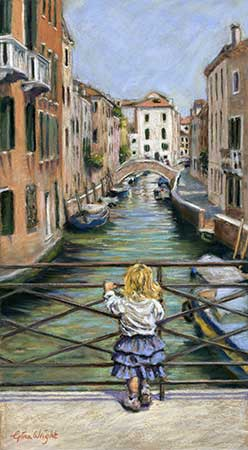 A Moment In Venice, Pastel