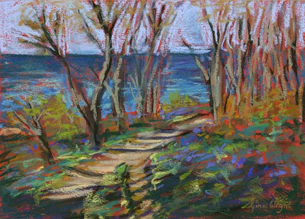 Study For Bluebells By The Sea, Pastel