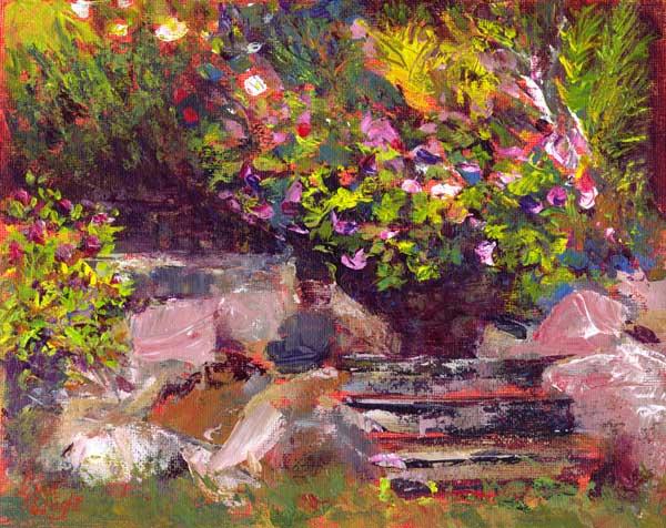 Midsummer's Bloom, Acrylic
