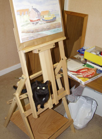 Xena on Easel
